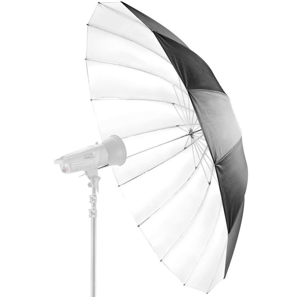 Collapsible 16 Ribbed Fibreglass Rods Lightweight Durable for Photo Studio Photography Video Lights Strobe Flash Continuous Lighting Phot-R 60 152cm Black /& White Parabolic Umbrella