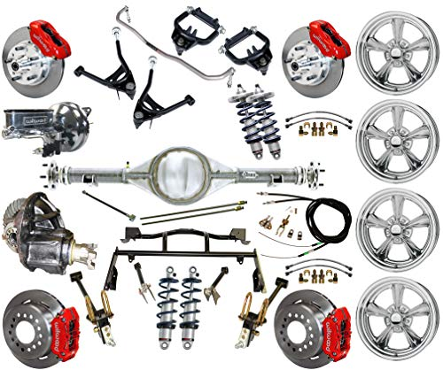 R & 4-LINK SYSTEM, WITH CURRIE REAR END,BILLET SPECIALTIES WHEELS,CONTROL ARMS,FRONT SWAY BAR & WILWOOD DISC BRAKE KIT,11