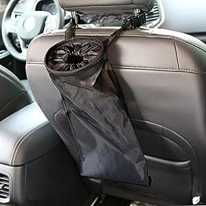 AOHANG Car Trash Black Garbage Bag Hanged Car Vehicle Seat Back