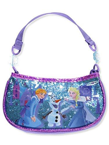 Disney Girls' Frozen Glitter Beaded Handbag Shoulder Bag Purple One Size -