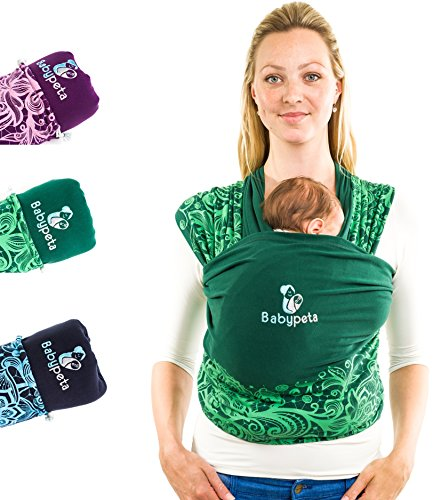Baby Sling - Newborn Baby Carrier - Perfect for On the Go Moms - No Hands Baby Sling & Carrier Helps Build Bond for Preemies, Newborns & Infants (Green) (Ktan Breeze White compare prices)
