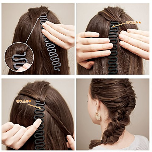 Magic Bun Maker Easy Hair Bun Maker - Fashion Magic Hair Braiding Fish Bond Waves Braider Tool Roller With Hair Twist Styling Bun Maker - Diy Hair Bun Maker - Magic Tool