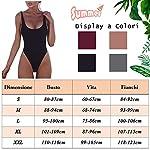 Tuopuda-Costume-da-Bagno-Donna-Intero-Bikini-Set-Mare-Colore-Solido-Beachwear-Swimsuit