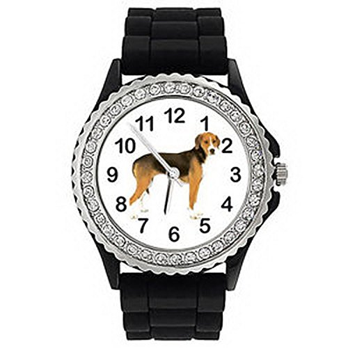 JWS1178 Hamiltonstovare Hamilton Hound Crystal Mens Ladies Silicone Wrist Watch
