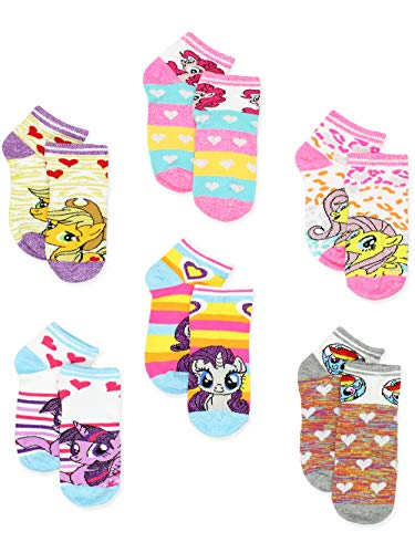 My Little Pony Girls 6 pack Socks (4-6