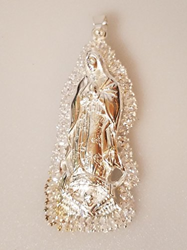 La Virgen Maria De Guadalupe Our Lady Mary Sterling Silver Pendant Catholic 43.3 Grams by Unknown