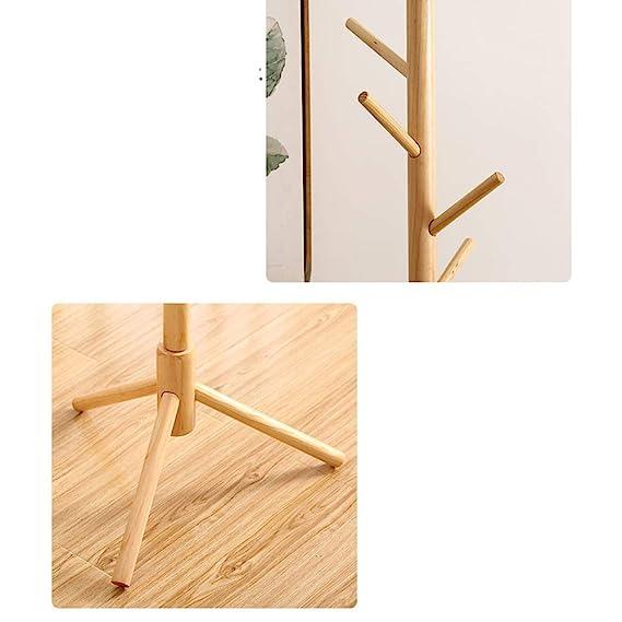Amazon.com: ZZHF yimaojia - Perchero de madera con 8 ganchos ...