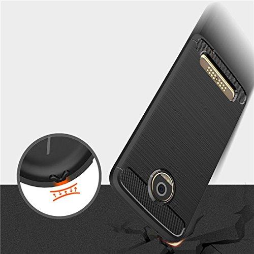 Funda MOTO Z2 Play,Manyip Alta Calidad Ultra Slim Anti-Rasguño y Resistente Huellas Dactilares Totalmente Protectora Caso de Cover Case Material de fibra de carbono TPU Adecuado para el MOTO Z2 Play B
