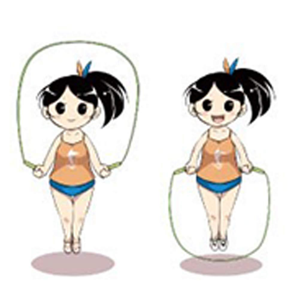 Sauter Corde avec Poign/ée Ergonomique en Bois pour Fitness Gym Activit/é Ext/érieure Yuanzi Corde /à Sauter Enfants