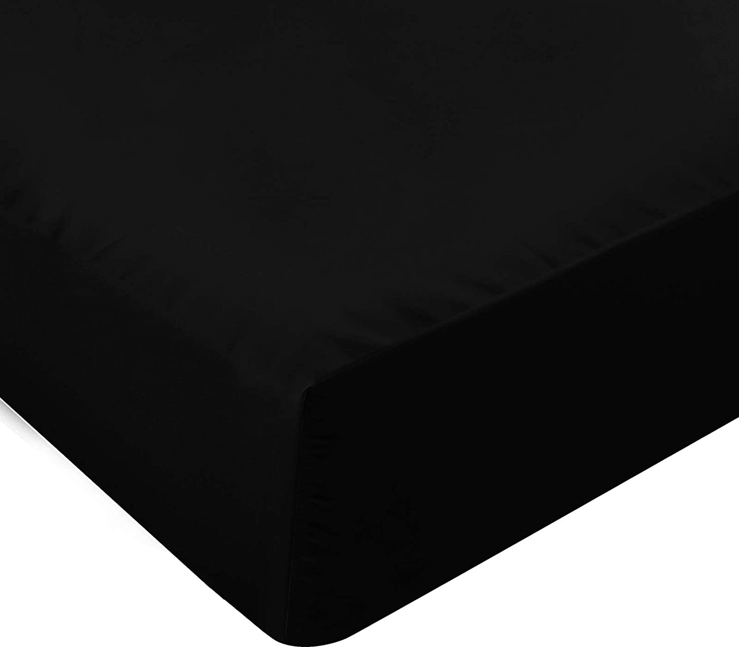 Utopia Bedding Twin Fitted Sheet (Black)