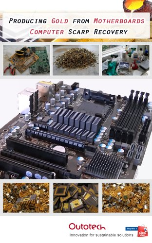 Gold refining from computer motherboards (Kindle Motherboard)