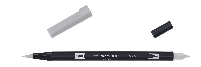 Tombow Dual brush-n75–Pennarello Doppia Punta Pennello, colore: grigio ABT-N75-1P