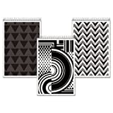 Fashion Steno Book, Assorted Black/White Cover, 6 x 9, WE, 80 Pages, 6 Books/PK, Sold as 1 Package, 6 Each per Package