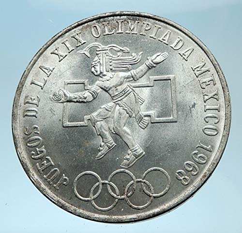 (1968 MX 1968 Mexico XIX Olympic Games Aztec Ball Player B coin Good Uncertified)