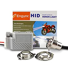 Engync® Wireless 35W Motorcycle Motorbike Headlight Xenon HID Kit All in One H4 P43T P15D S2 BA20D Hi/Low Light Pure White Color (5000K)