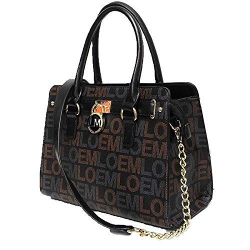 LOEM brand lock logo belt black key shoulder Bag handbag designer inspired