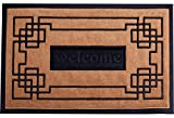 Welcome Mat Outdoor/Indoor Slonser Doormat 18''x30'' Heavy Duty Waterproof Front Door Mats Outside Inside Use Decorative Modern Rubber Entrance Mat for Home - Easy To Clean Surface - LIMITED TIME OFFER