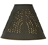 CTW Home Collection Willow Punched Tin Lampshade Rustic Brown