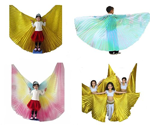 Costumes Dance Halloween Easy (Geek3C Belly Dance Isis Wings for Girls,Cosplay Costumes Carnival Halloween White)