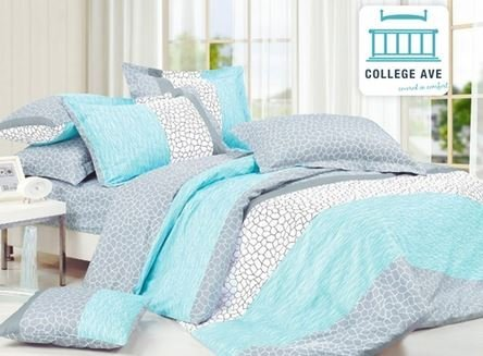 Dove Aqua Comforter Set - Twin XL Twin Extra Long