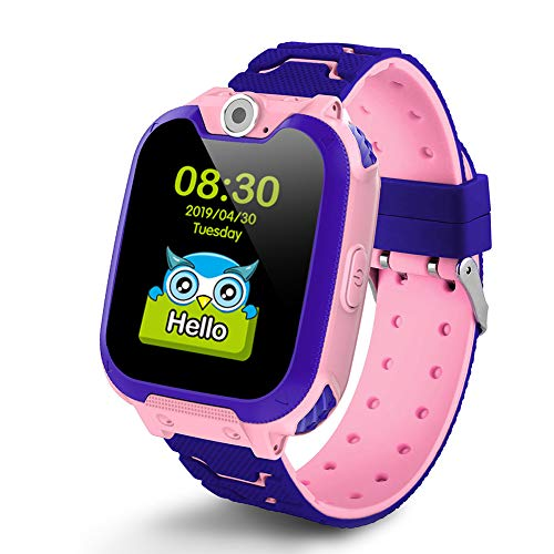 Deyawe Kids Smartwatch Phone,Colorful Touch Screen Smartwatch with Camera Games Touch Screen SOS Call Voice Chatting Christmas Birthday Gift (Best Touch Screen Games)