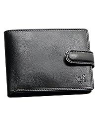 StarHide Mens RFID Blocking Real Italian VT Luxury Leather Wallet Purse - 1213