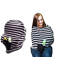 Baby Car Seat Covers & Infant Canopy, Baby Nursing & Breastfeeding Cover – St...