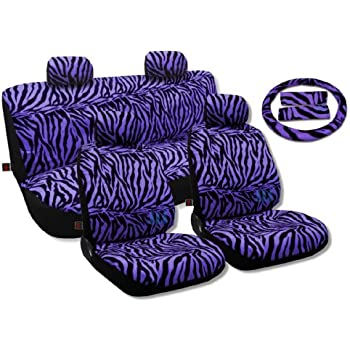 Amazon Com Animal Print Seat Covers Universal Sedan Set