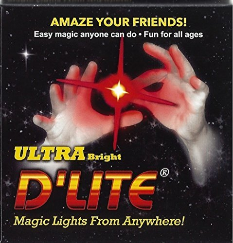 D'lites Regular Red Lightup Magic - Thumbs Set / 2 Original Amazing Ultra Bright Light - Closeup & Stage Magic Tricks - Easy Illusion Anyone Can Do It - See Box for Free Training / Routine Videos ()