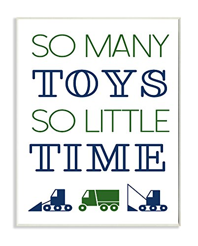 Stupell Home Décor So Many Toys So Little Time Wall Plaque Art, 10 x 0.5 x 15, Proudly Made in USA (Pottery Barn 15)