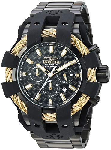 Invicta Bolt - Invicta Men's Bolt Quartz Stainless-Steel Strap, Black, 28.7 Casual Watch (Model: 26676)