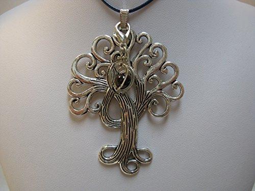 Natural mente–Pendentif Arbre de Vie, la pierre + 1Chakra, pendentif pour collier, amulette, arbre de vie, bande plastique incluse, pierres précieuses, n ° 183