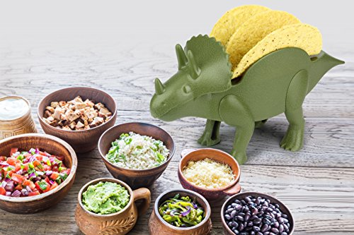 KidsFunwares TriceraTACO Taco Holder - The Ultimate Prehistoric Taco Stand for Jurassic Taco Tuesdays and Dinosaur Parties - Holds 2 Tacos - The Perfect Gift for Kids and Kidults that Love Dinosaurs by KidsFunwares (Image #4)