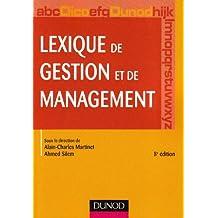 LEXIQUE DE GESTION ET DE MANAGEMENT 8ED.