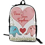 3rd Couples Love Wedding Birthday Canvas Backpack School Bag Travel Daypack