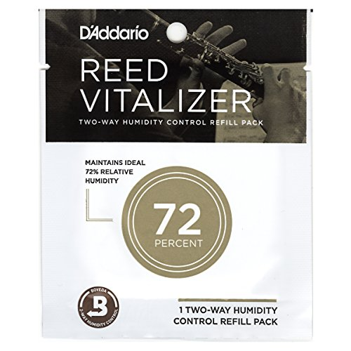 (D'Addario Woodwinds Reed Vitalizer Humidity Control - Single Refill Pack, 72% Humidity)