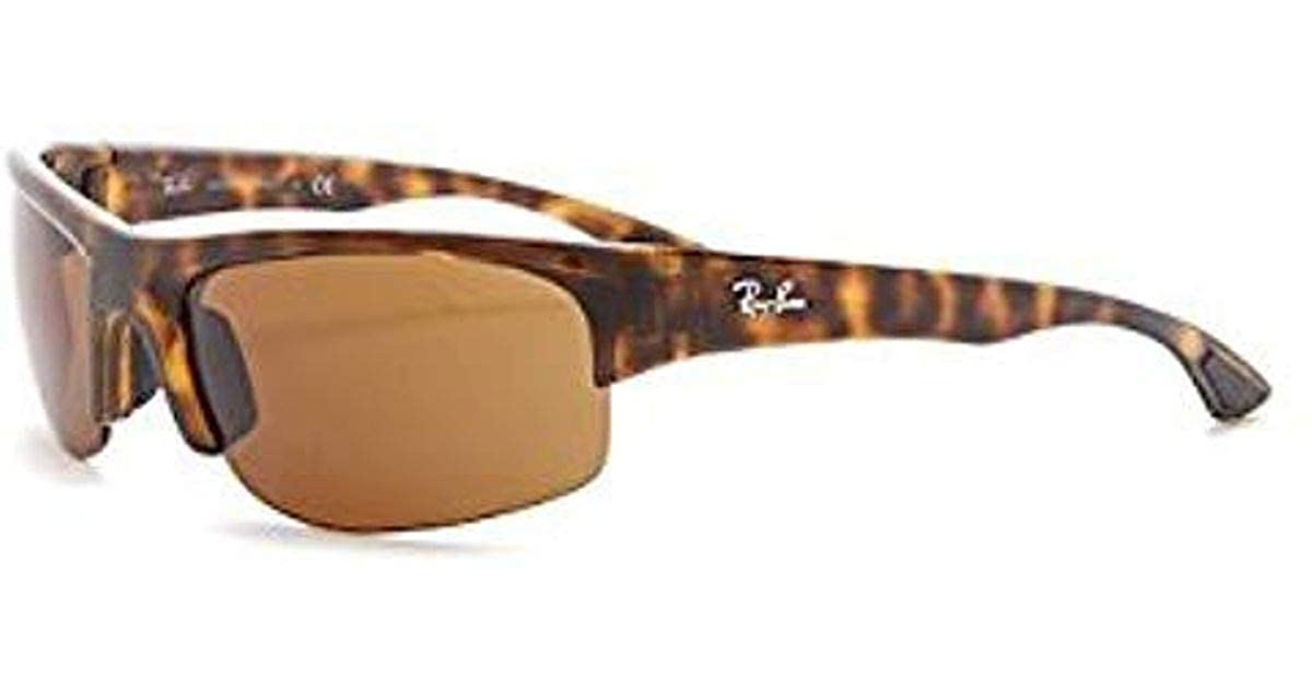 Amazon.com: Ray-Ban anteojos de sol polarizadas Wrap ...
