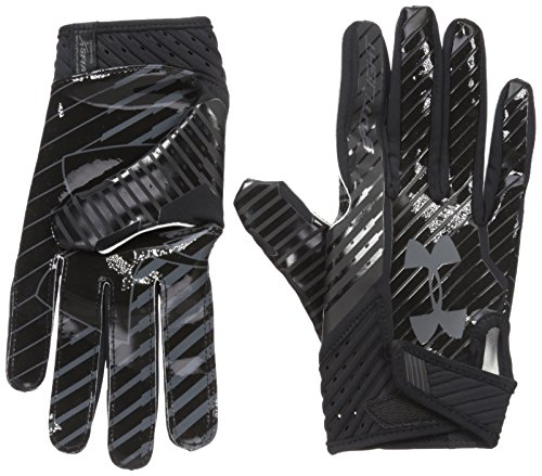 Under Armour Men's Spotlight Football Gloves,Black (002)/Stealth Gray, Medium