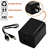 32G Hidden Cameras Charger Adapter,ESROVER 1080P HD Usb Wall AC Plug Charger Wireless Home Security Covert Nanny Spy Video & Audio Camcorder adapter