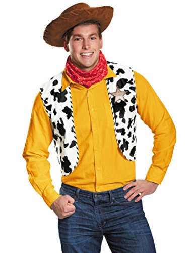 Disney Woody Toy Story Men Costume Kit (Halloween Disney Costumes For Adults)