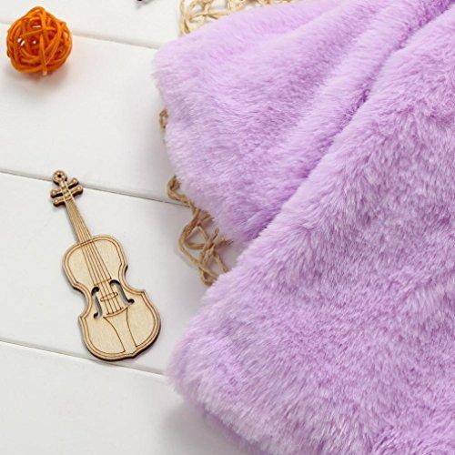 Omiky® Baby-Säuglingsmädchen-Pelz-Winter-warme Mantel-Mantel-Jacke-starke warme Kleidung Lila