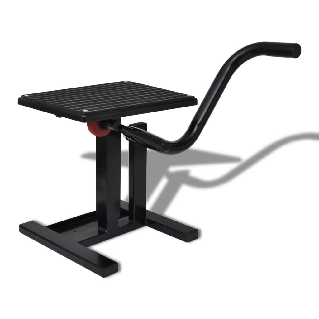 Professional Motorbike Lift Stand Black, Steel Motorbike Lift Stand,Easy to Assemble and Operate