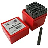 """Jeweler'S Tools 1/4"""" Professional 36Pc Letter & Number Stamp Punch Set - 6Mm Hardened Steel - Metal, Wood, Leather"""