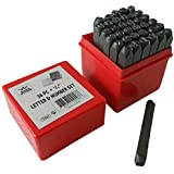 """BENCH WIZARD Number & Capital Letter Punch Set 36 Pc (6mm 1/4""""): TZ01-09098"""