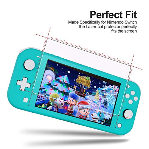 [4 Pack] Hestia Goods Nintendo Switch lite Tempered Glass Screen Protector - Transparent HD Clear Anti-Scratch Screen Protector for Nintendo Switch lite