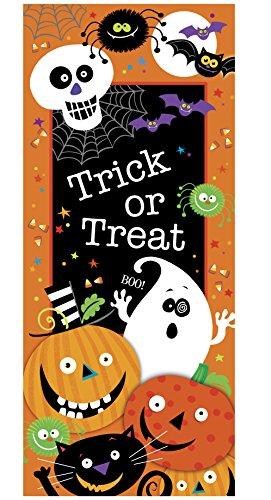 Plastic Spooky Smiles Halloween Door Poster 60