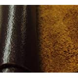 REED LEATHER HIDES - COW SKINS VARIOUS COLORS & SIZES (12 X 24 Inches 2 Square Foot, DARK BROWN)