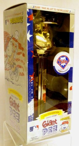(Pez Gold Plated Charlie Brown Philadelphia Phillies - Limited Edition Giant Dispenser)
