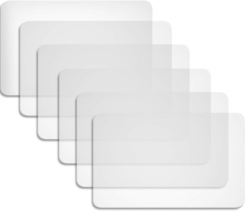 Boao 6 Piezas Manteles Individuales de Plástico Alfombrillas Manteles Individuales Resistentes Al Calor Alfombrillas para Mesa, Comedor, Cocina (40 x 30 cm)