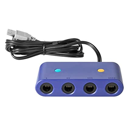 amazon com: widewing 4 ports game controller adapter converter gc gamecube  adapter for wii u pc nintendo switch controller adapter: home audio &  theater